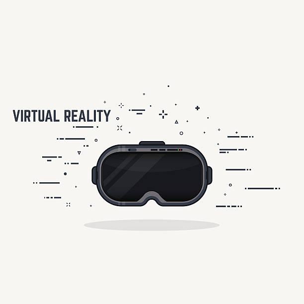Virtual reality-headset – Vektorgrafik