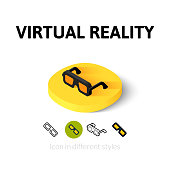Virtual reality icon in different style