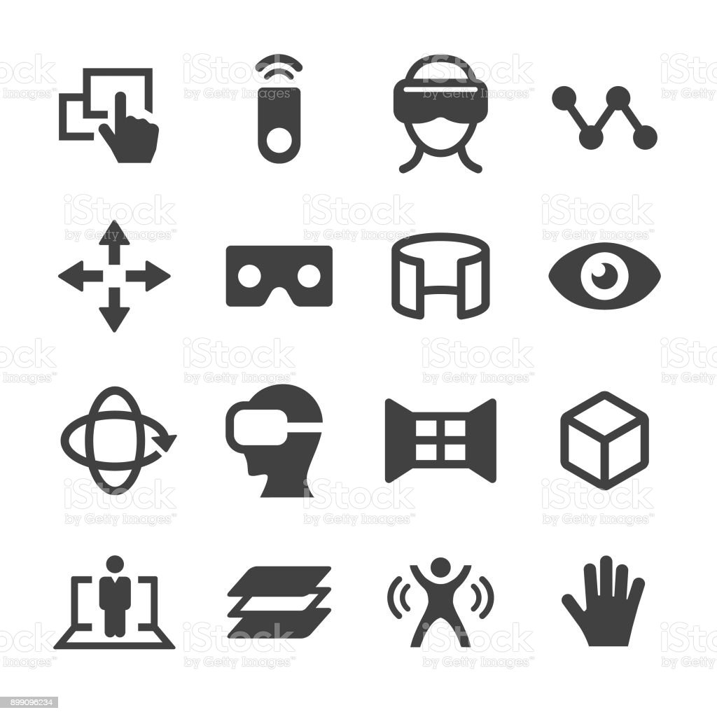 Virtual Reality Icons - Acme Series vector art illustration