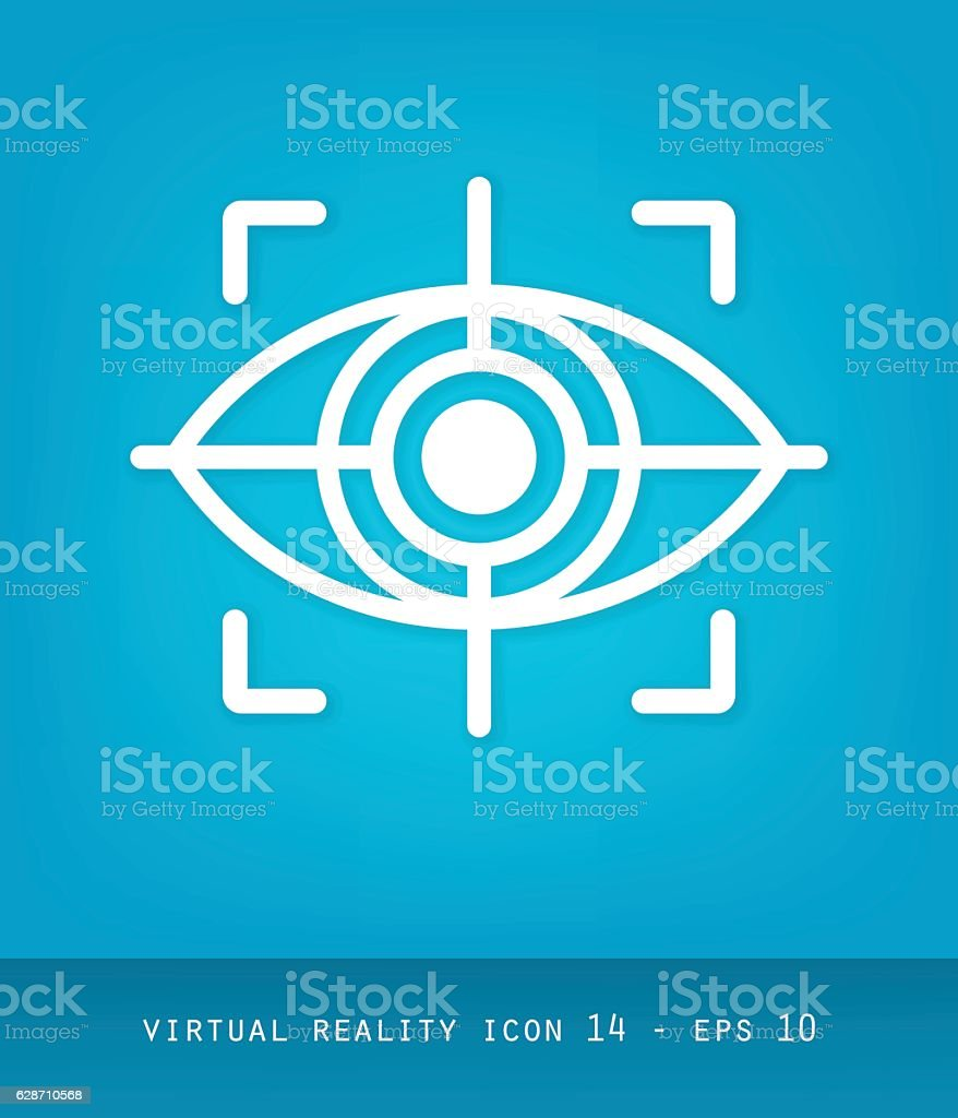 Virtual Reality Icons Series, Flat 2.0 - Eye Tracking Sym – Vektorgrafik