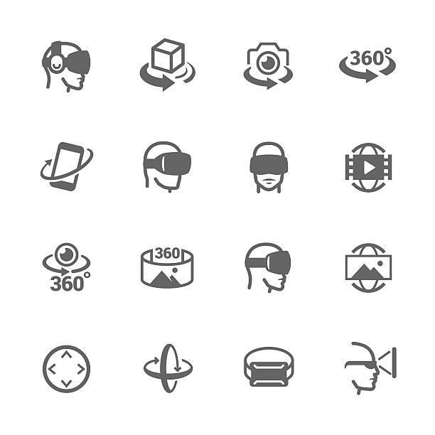Virtual Reality Icons – Vektorgrafik