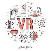 Virtual Reality - Line Art Concept