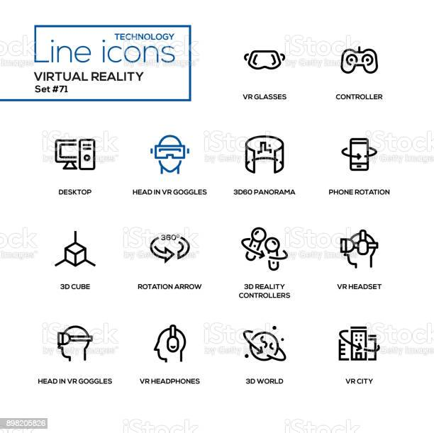 Virtual reality line design icons set vector id898205826?b=1&k=6&m=898205826&s=612x612&h=s algmyiz lffkdaqogoahvtd5vhghb1fb151xvd7f8=
