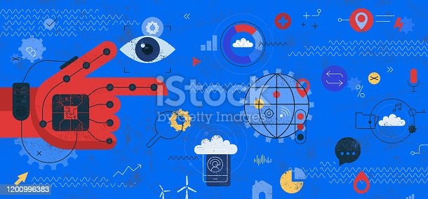 istock Virtual Reality Simulated World Concept 1200996383