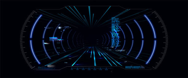 Virtual reality.Futuristic VR Head-up Display Design. Sci-Fi Helmet HUD Virtual reality.Futuristic VR Head-up Display Design. Sci-Fi Helmet HUD. Future Technology gambling stock illustrations