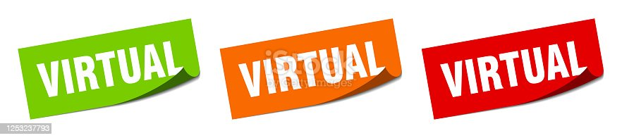 istock virtual sticker. virtual square isolated sign. virtual label 1253237793
