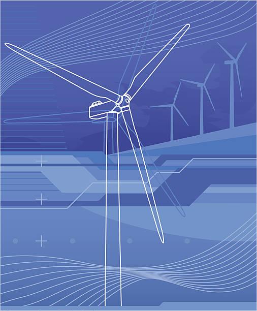 Virtuelle wind turbine – Vektorgrafik
