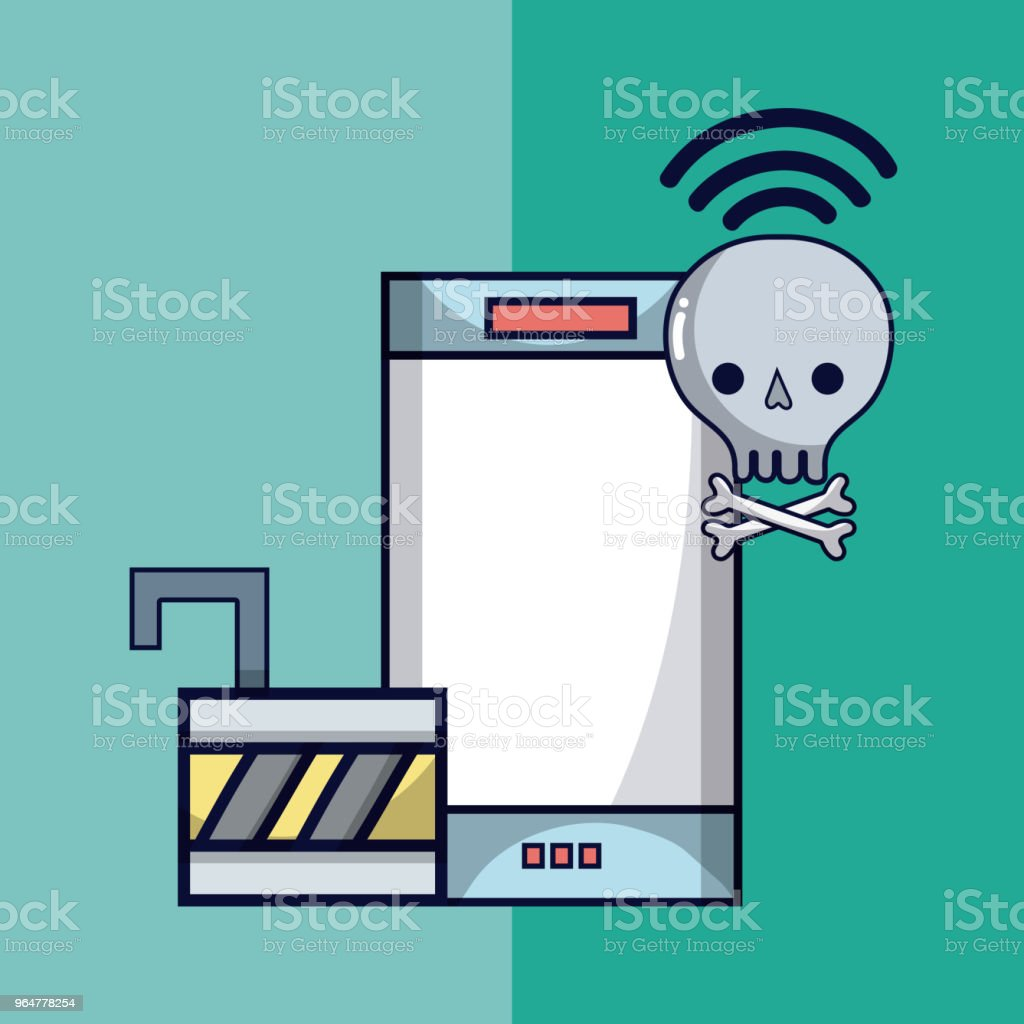 Virus and security system technology royalty-free virus and security system technology stock vector art & more images of antivirus software