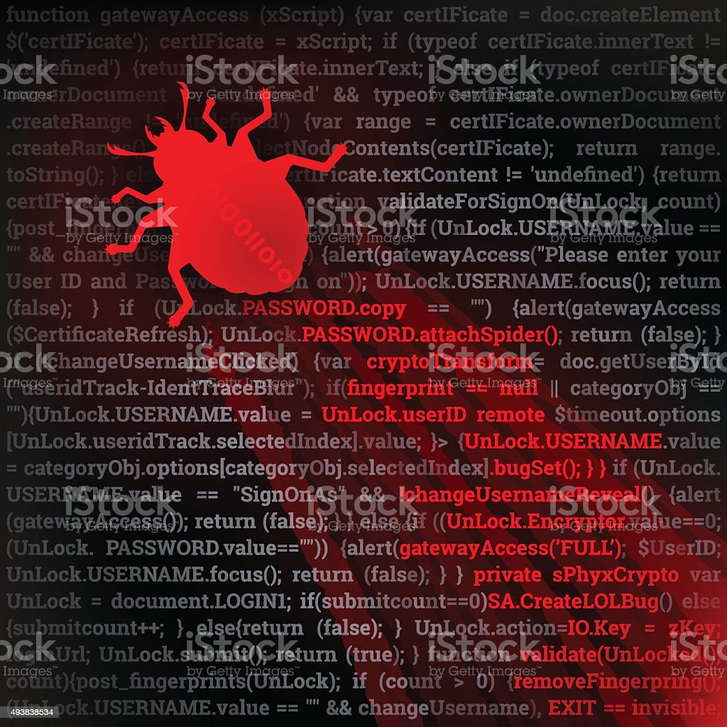 Virus Bug vector art illustration