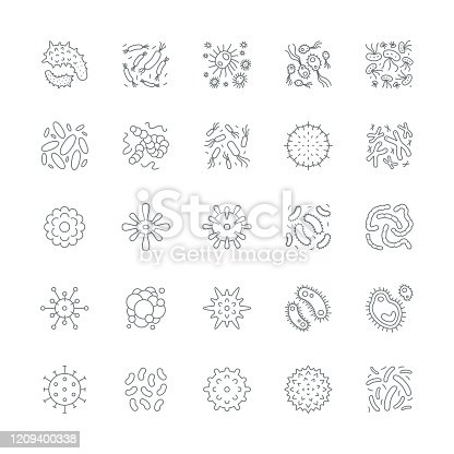 Virus cell icons,vector illustration. EPS 10.