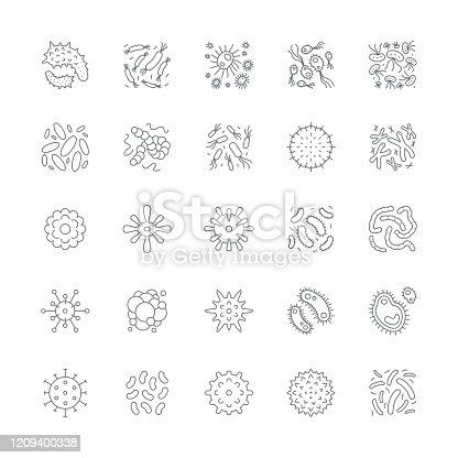 Virus cell icons,vector illustration. EPS 10.