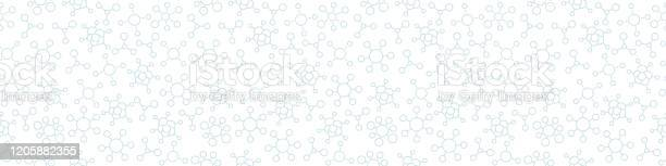 Virus Covid19 Nahtlose Muster Hintergrund Virale Bakterieninfektion Molekül Coronavirus Horizontale Banner Kontur Hellfarbiger Vektor Stock Vektor Art und mehr Bilder von Ansteckende Krankheit