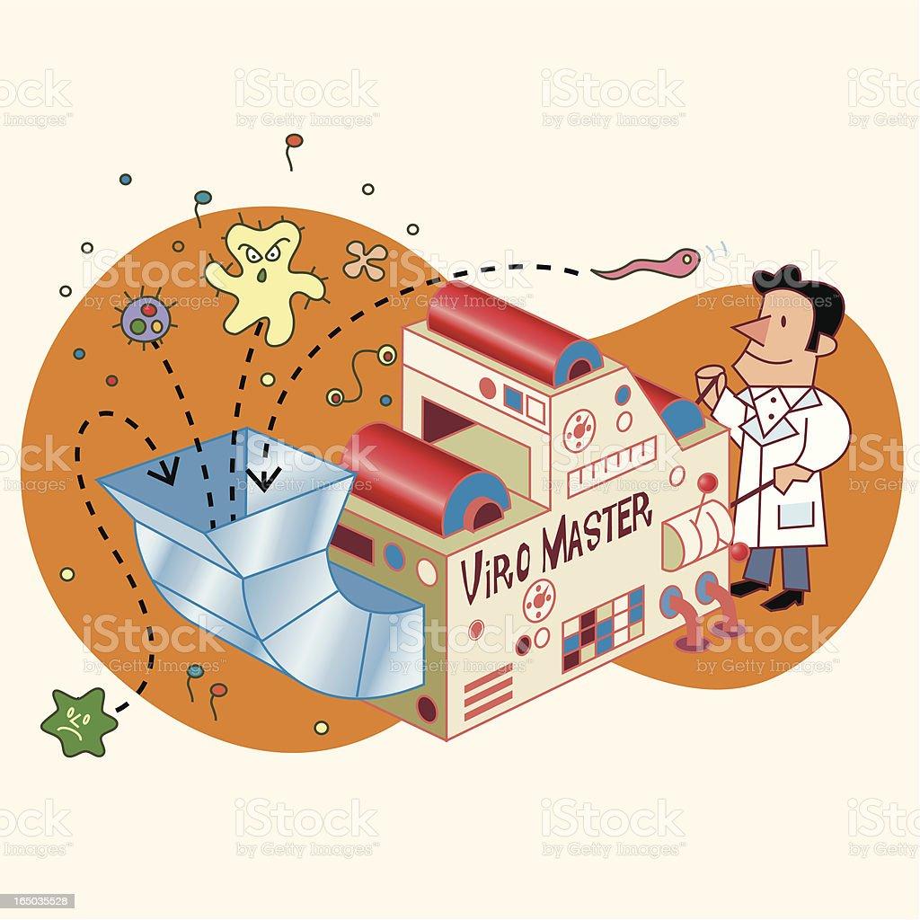 Virus Detector royalty-free stock vector art