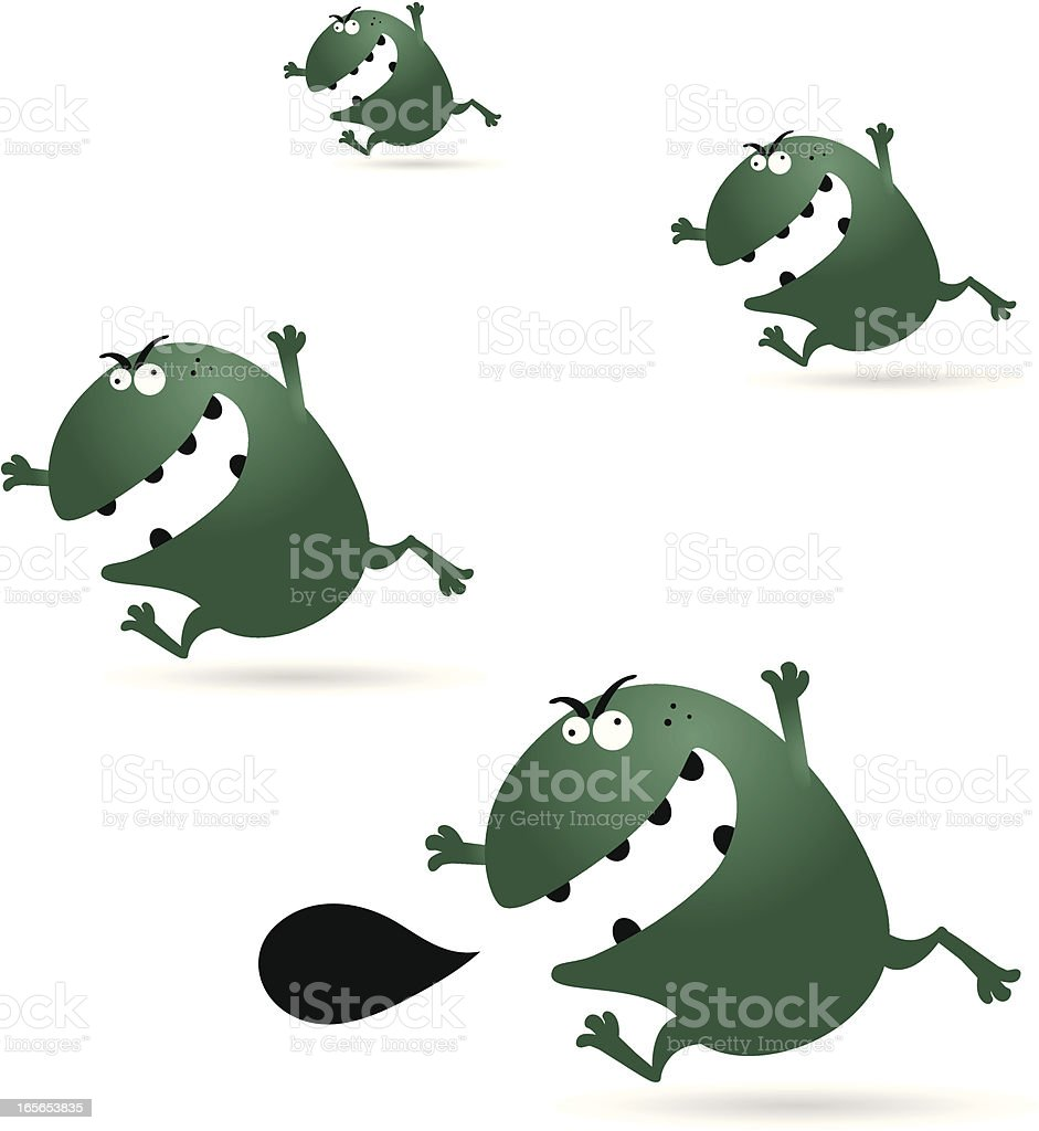 Virus, Germs, Monsters royalty-free stock vector art
