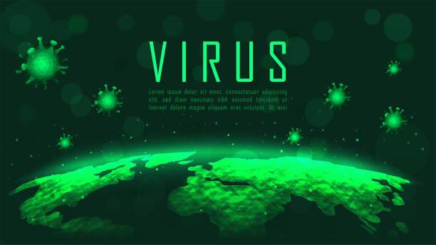 Virus-Globalpandemie-Ausbruch – Vektorgrafik