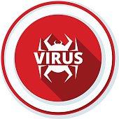 Virus hazard sign illustration