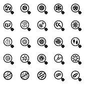 Virus icon set
