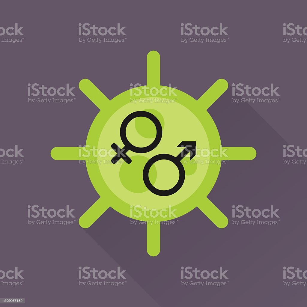 Virus & icon vector art illustration