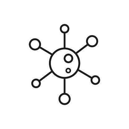 Virus icon. Vector illustration in flat design