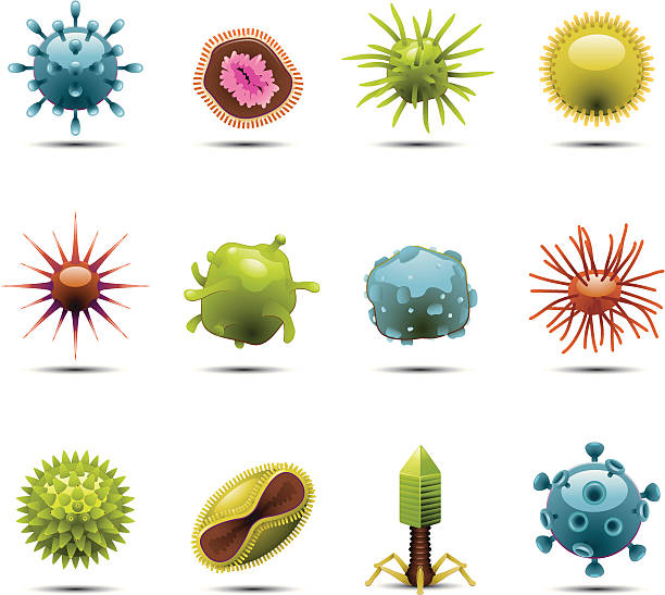 Virus Icons http://www.cumulocreative.com/istock/File Types.jpg bacterium stock illustrations