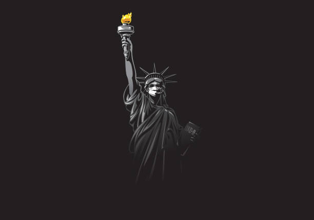 米国のウイルス - corona newyork点のイラスト素材/クリップアート素材/マンガ素材/アイコン素材