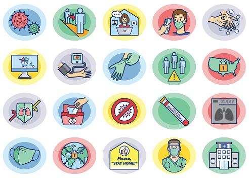 Virus Prevention 02 Color Icons Set