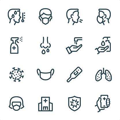 Virus Prevention - Pixel Perfect Unicolor line icons