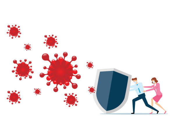 Virus Protection vector art illustration