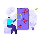An illustration design of mobile virus scanning