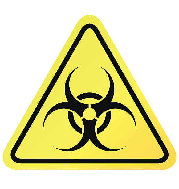 Virus sign vector Virus sign vector on white background biohazard symbol stock illustrations