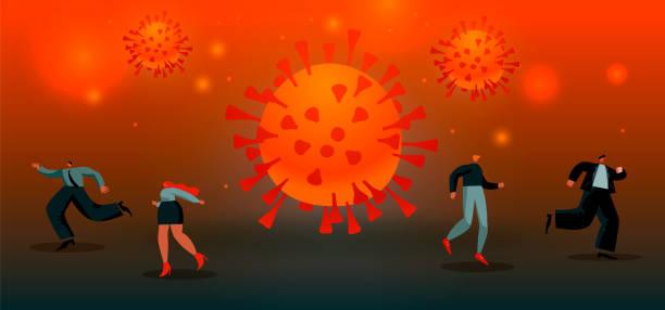 ilustrações de stock, clip art, desenhos animados e ícones de virus spreads. epidemic concept vector illustration eps 10 - covid flight