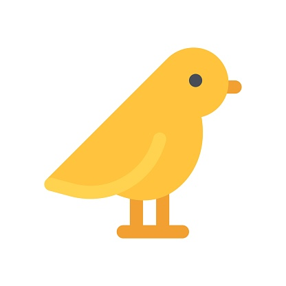virus transmission related transmit virus with bird vector in flat design,