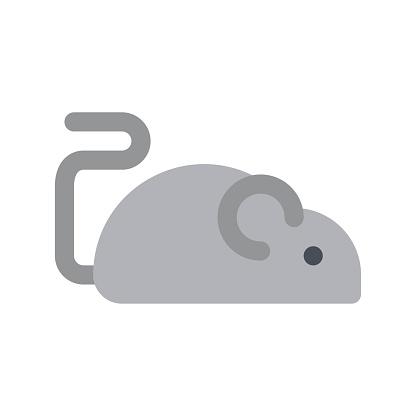 virus transmission related transmit virus with rat vector in flat design,
