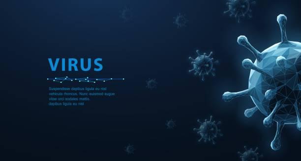 Virus. vector art illustration