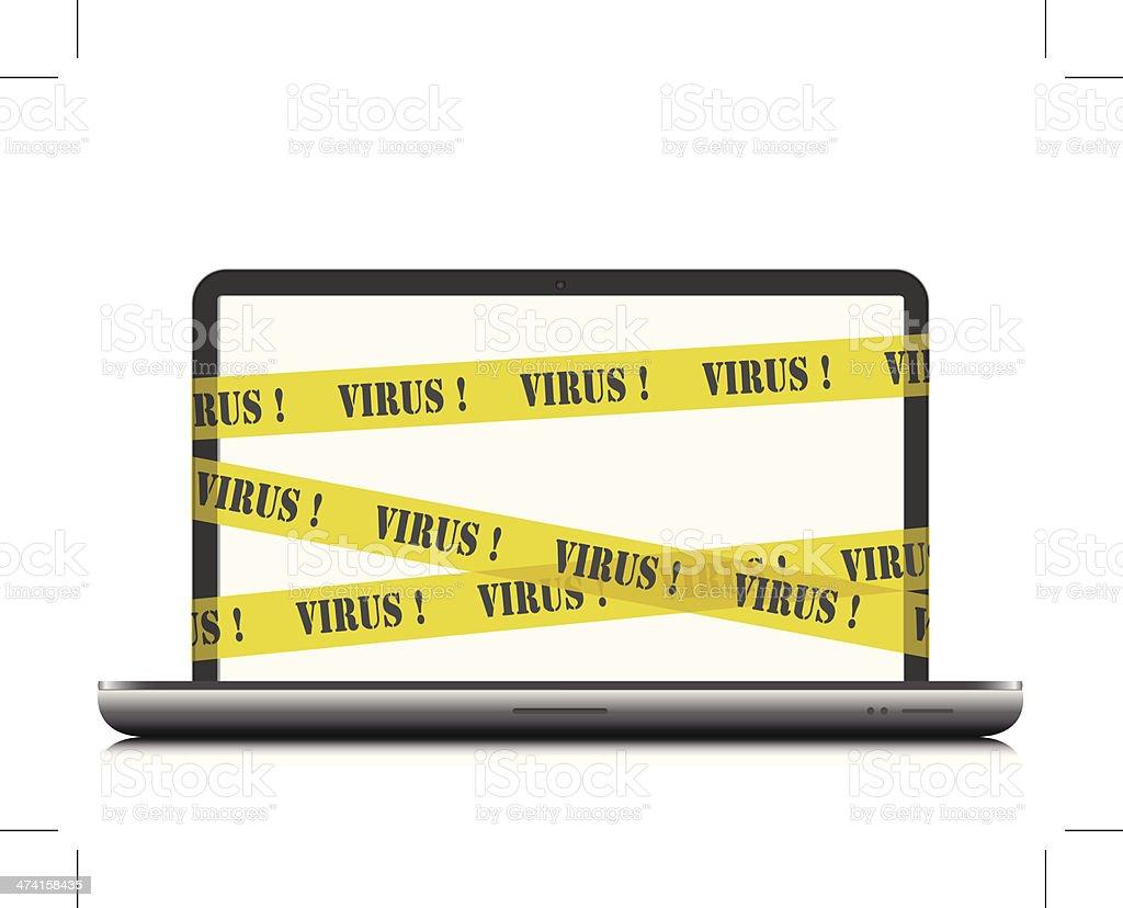 Virus warning on laptop royalty-free virus warning on laptop stock vector art & more images of computer
