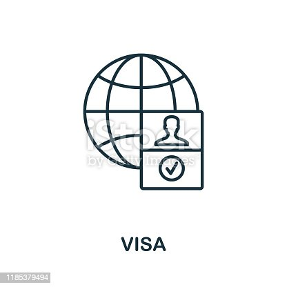 Visa outline icon. Thin line concept element from icons collection. Creative Visa icon for mobile apps and web usage.