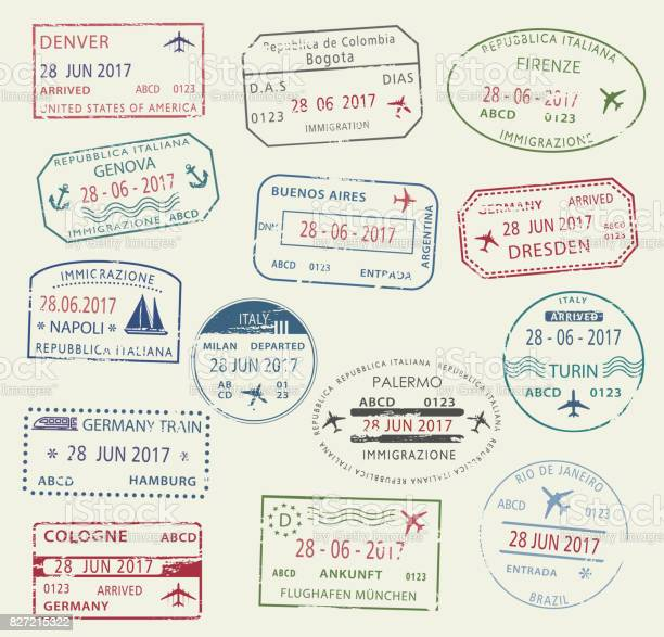 Visa passport stamp symbol set for travel design vector id827215322?b=1&k=6&m=827215322&s=612x612&h=u 2dro2iiiaj7eessnqavoysnerirz4fr7evy4fyvls=