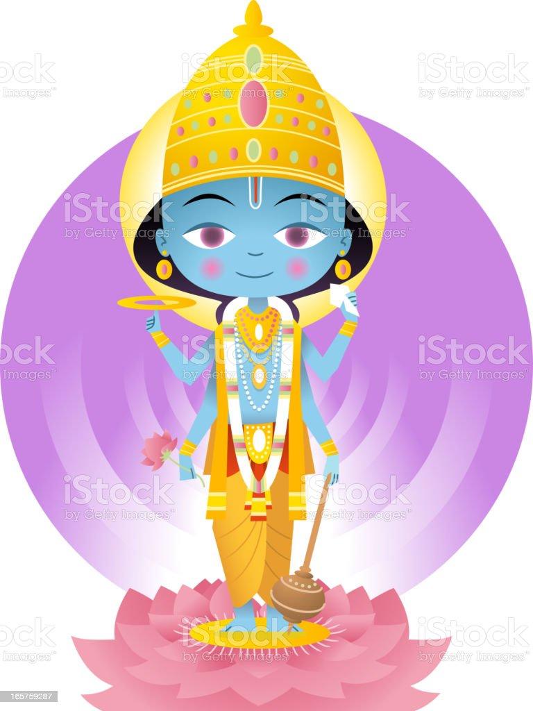 Vishnu vector art illustration
