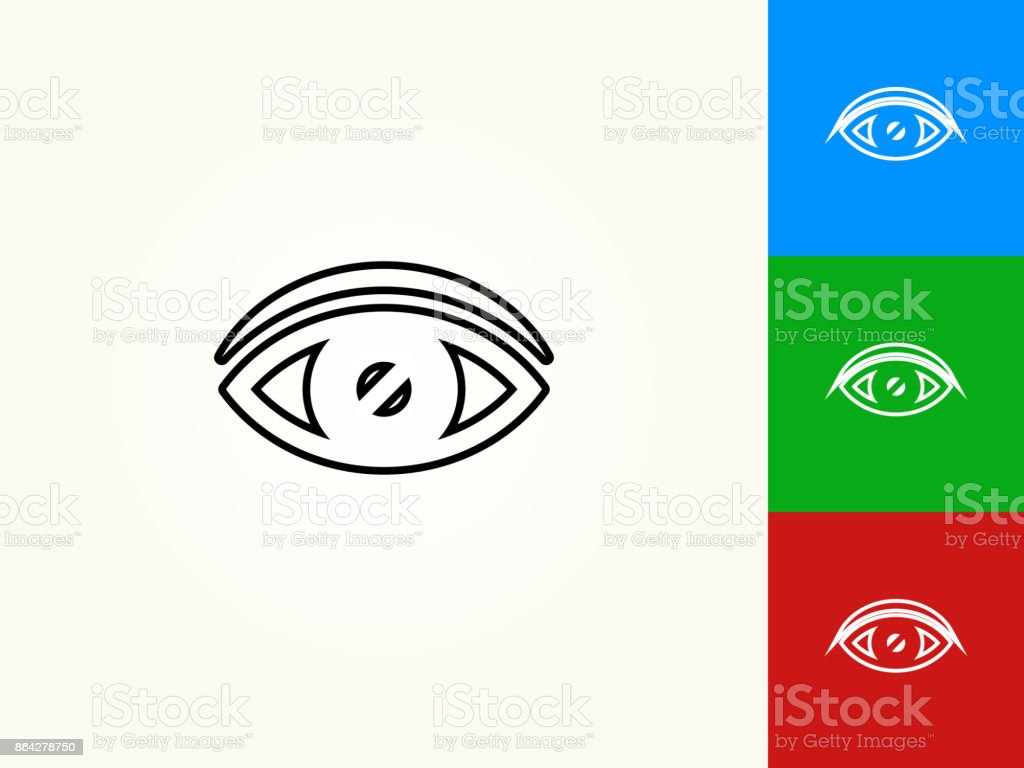 Vision Black Stroke Linear Icon royalty-free vision black stroke linear icon stock vector art & more images of black color