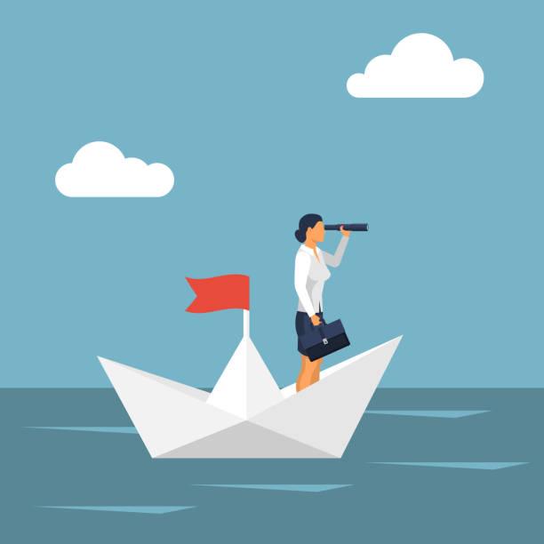 illustrazioni stock, clip art, cartoni animati e icone di tendenza di concetto di business vision. - opportunità