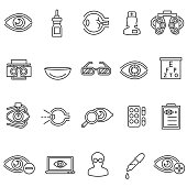 vision care icons set.