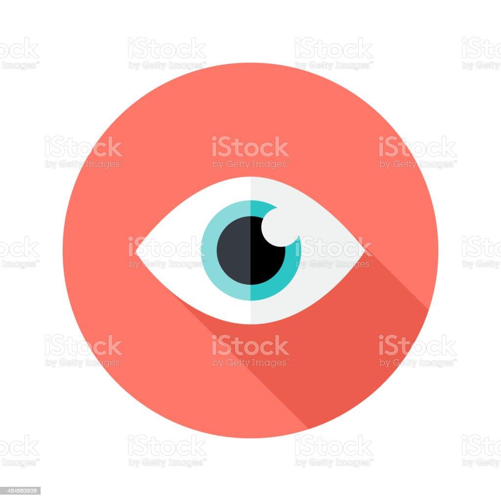 Vision Eye Circle Flat Icon vector art illustration