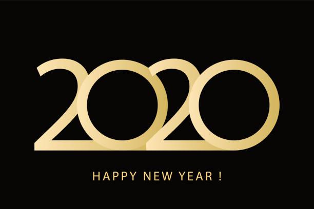 illustrations, cliparts, dessins animés et icônes de vision 2020, heureux design logo de la nouvelle année. - calendrier de l'avant