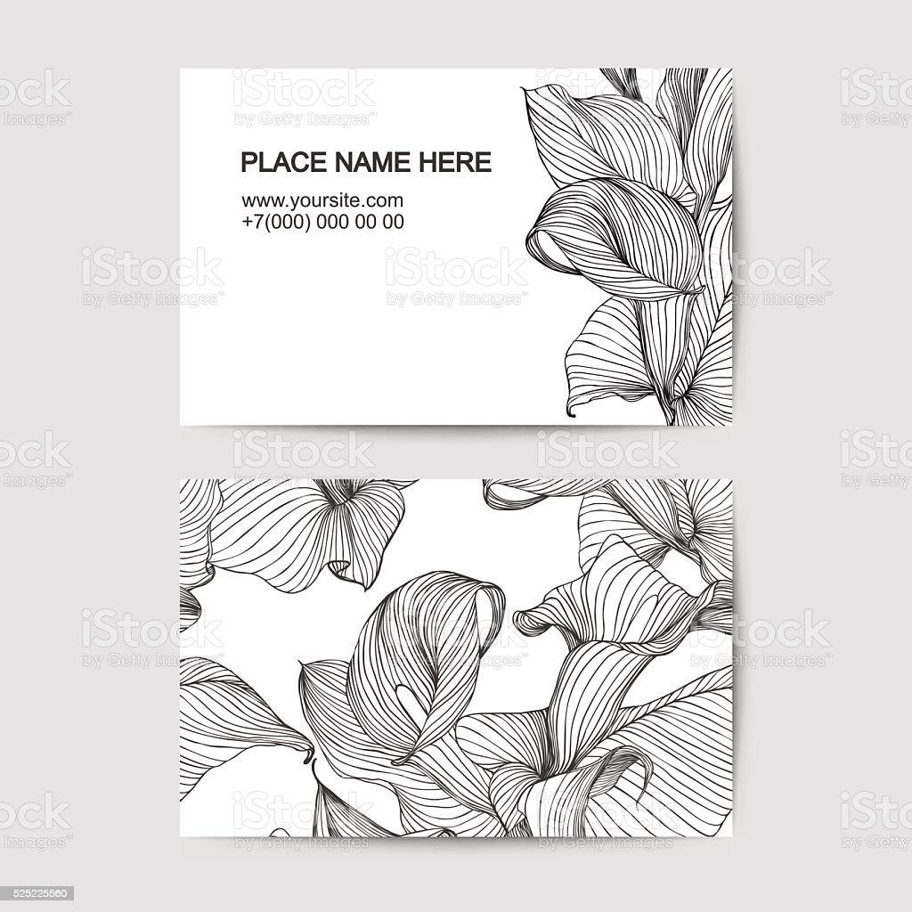 Modele De Carte Visite Avec Lys Blanc Pour Un Fleuriste Salon Beaute
