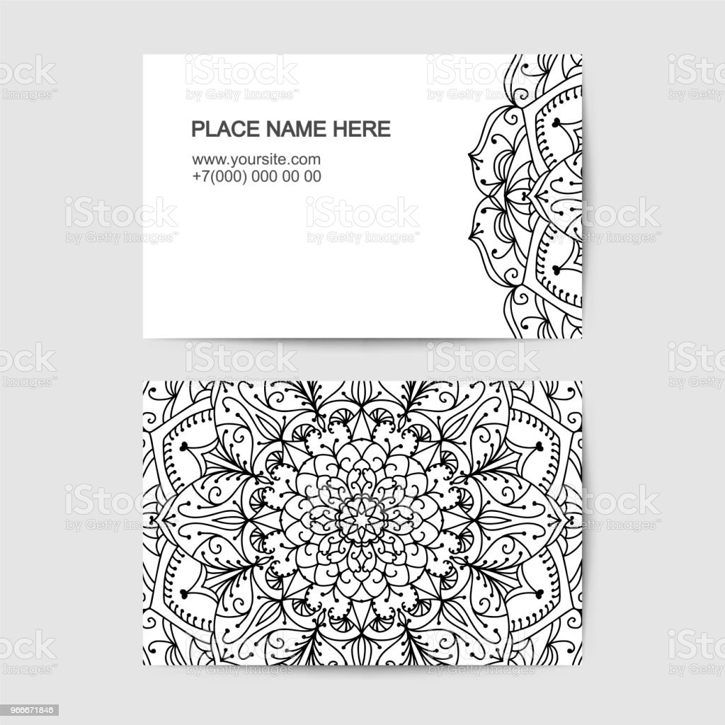 Visit Card Template With Lace Pattern Stock Vector Art & More Images ...