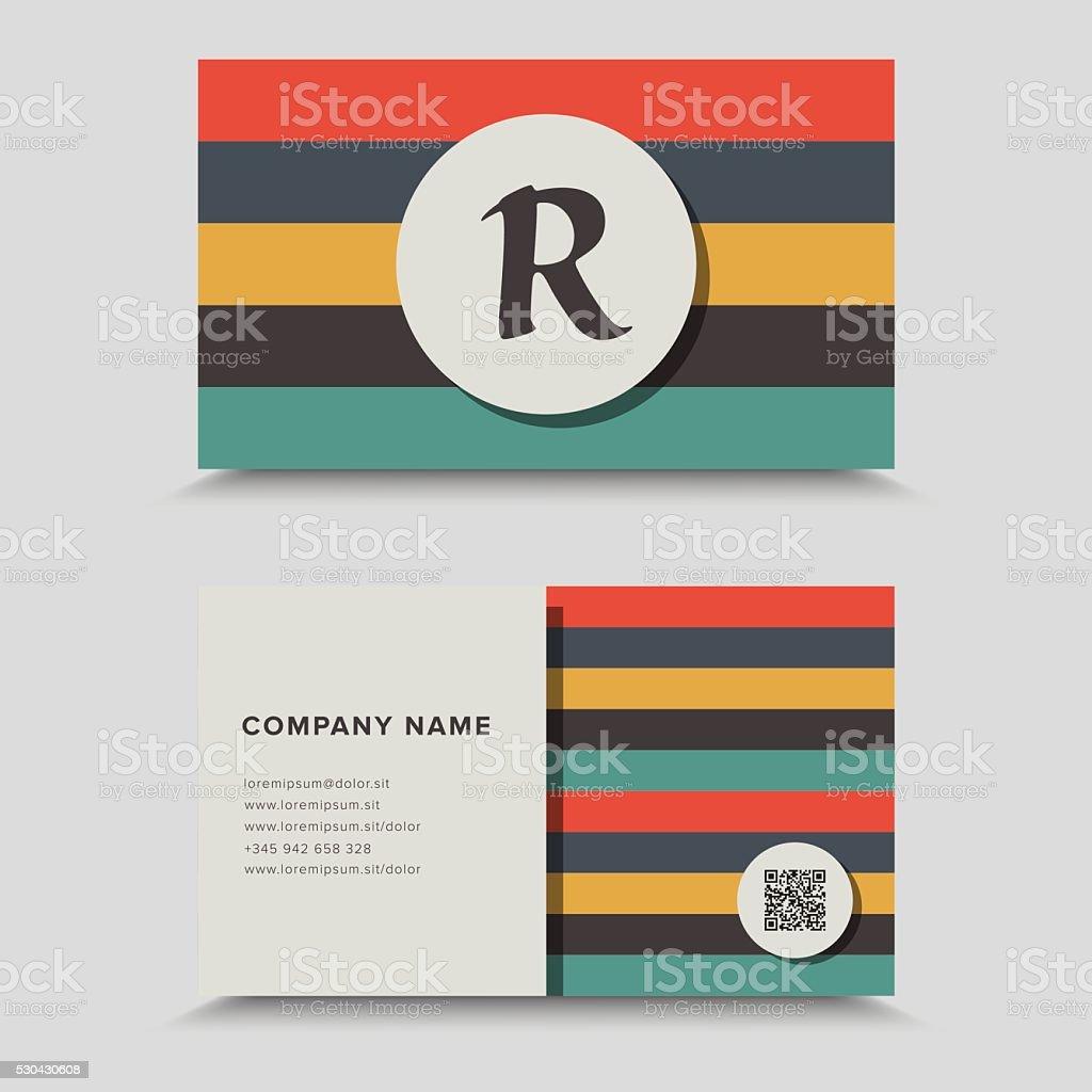 Besuchen Sie Die Karte Mit Qrcode Visitenkarte Design Stock