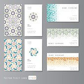 Visit cards set islamic