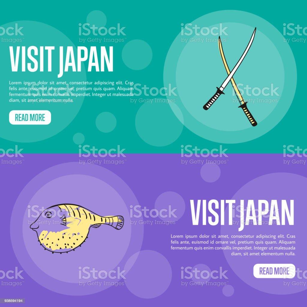 Besuch Japan Travel Company Landung Seitenvorlage Stock Vektor Art ...