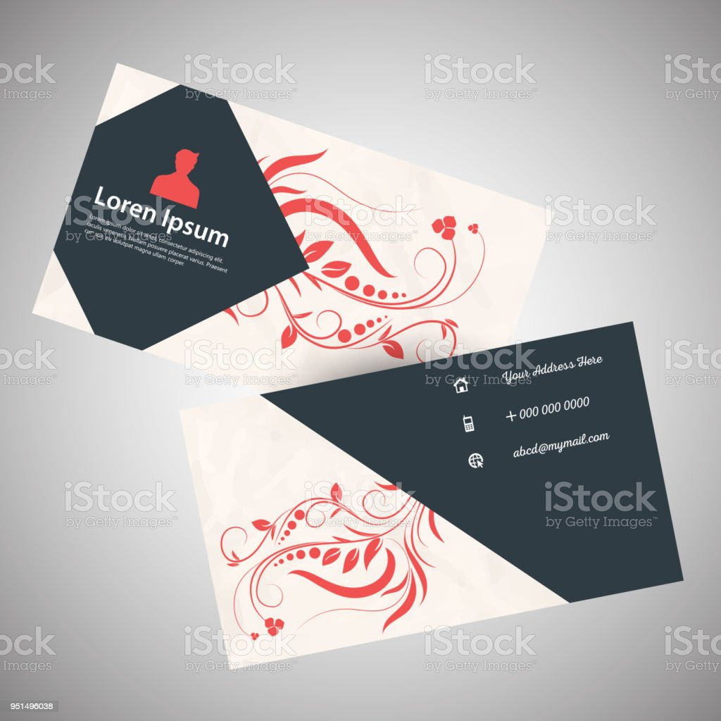 Visiting card design stock vector art more images of abstract office india abstract business decoration visiting card design royalty free reheart Images