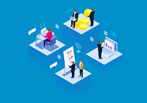 Visual data modern business office